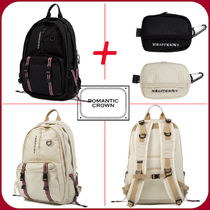 ROMANTIC CROWN Casual Style Unisex Bag in Bag A4 Backpacks