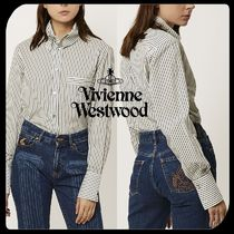 Vivienne Westwood Stripes Casual Style Long Sleeves Cotton Medium