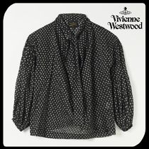 Vivienne Westwood Dots Casual Style Long Sleeves Cotton Medium