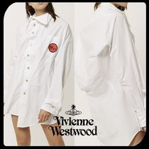 Vivienne Westwood Casual Style Street Style Long Sleeves Plain Cotton Long