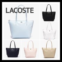 LACOSTE A4 Plain PVC Clothing Office Style Totes