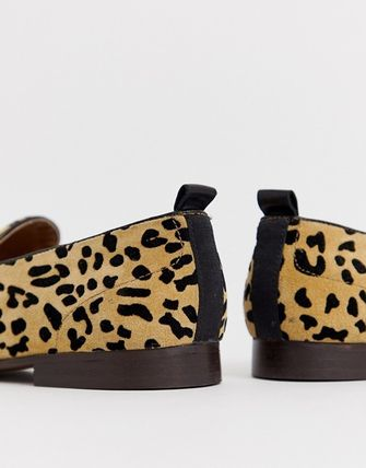 Leopard Patterns Loafers Suede Loafers & Slip-ons