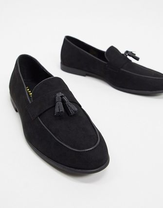 Loafers Suede Plain Loafers & Slip-ons