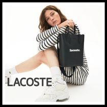 LACOSTE Plain PVC Clothing Office Style Totes