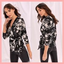 Lipsy Flower Patterns Cropped Medium Party Style Shirts & Blouses