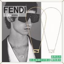FENDI Monogram Unisex Chain Metal Necklaces & Chokers