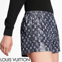 Louis Vuitton Printed Pants Short Monogram Casual Style Silk Nylon Logo