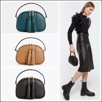 Uterque Casual Style 2WAY Plain Leather Elegant Style Shoulder Bags