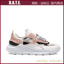DATE Rubber Sole Casual Style Studded Leather Low-Top Sneakers