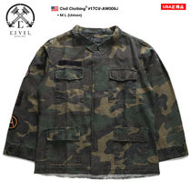CIVIL REGIME Button-down Camouflage Unisex Street Style Long Sleeves
