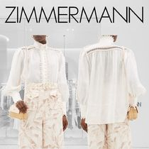 Zimmermann Casual Style Long Sleeves Plain Cotton Office Style