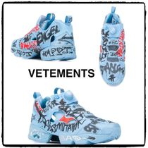 VETEMENTS Casual Style Unisex Street Style Low-Top Sneakers