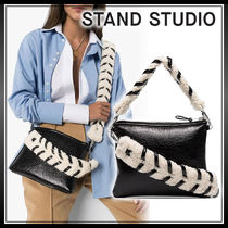 Stand Casual Style Faux Fur Street Style Plain Elegant Style