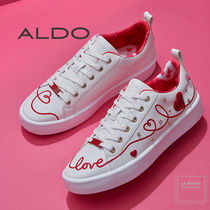 ALDO Heart Round Toe Rubber Sole Lace-up Casual Style Faux Fur