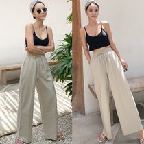 Casual Style Linen Street Style Plain Cotton Long