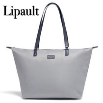 Lipault Casual Style Unisex Nylon A4 Plain Office Style Totes