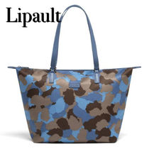 Lipault Camouflage Casual Style Unisex A4 Totes