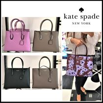 kate spade new york A4 2WAY Plain Leather Crossbody Totes