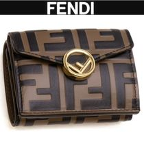 FENDI F IS FENDI Leather Folding Wallets