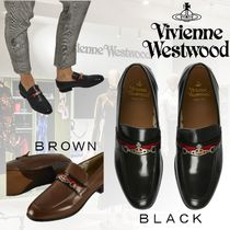 Vivienne Westwood Loafers Unisex Leather Loafers & Slip-ons