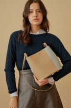 hoze Casual Style Street Style Plain Leather Office Style