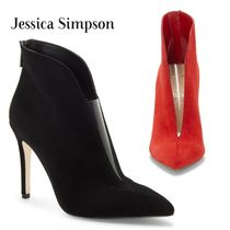 Jessica Simpson Casual Style Suede Plain Pin Heels Elegant Style