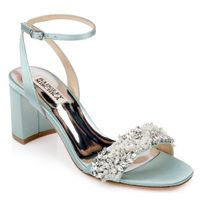 Badgley Mischka Open Toe Casual Style Plain Block Heels Party Style