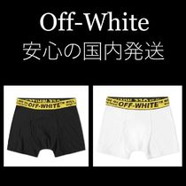 Off-White Unisex Street Style Plain Cotton Boxer Briefs