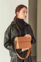 hoze Casual Style Street Style Plain Leather Party Style