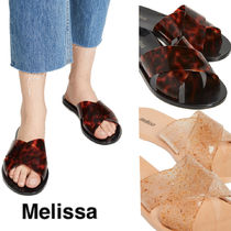 Melissa Open Toe Casual Style Flip Flops PVC Clothing Flat Sandals