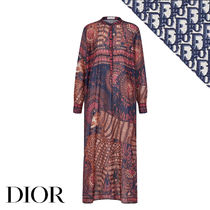 Christian Dior Long Sleeves Other Animal Patterns Cotton Long