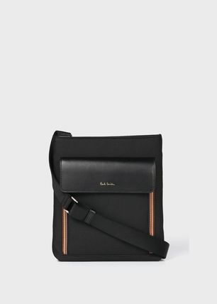 Paul Smith Unisex Nylon Blended Fabrics Plain Leather
