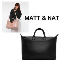 MATT&NAT Casual Style Unisex Nylon A4 Plain Office Style Handbags