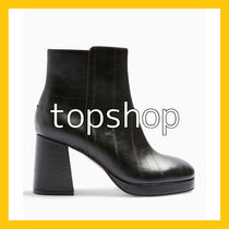 TOPSHOP Open Toe Casual Style Faux Fur Blended Fabrics Street Style