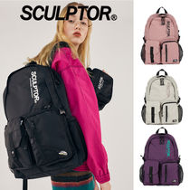 SCULPTOR Paisley Unisex Street Style Plain Logo Backpacks