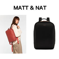 MATT&NAT Casual Style Unisex Nylon A4 Plain Office Style Backpacks