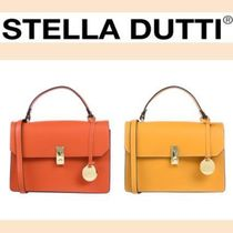 Stella Dutti Casual Style Plain Leather Party Style Elegant Style