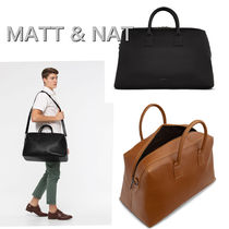 MATT&NAT Casual Style Unisex Nylon 2WAY Plain Handbags