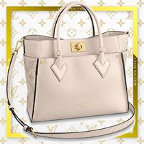 Louis Vuitton Monogram Casual Style Calfskin A4 2WAY Office Style Totes