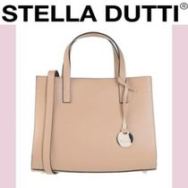 Stella Dutti Casual Style 2WAY Plain Leather Party Style Office Style