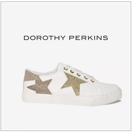 Star Casual Style Glitter Low-Top Sneakers