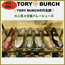 Tory Burch Round Toe Casual Style Street Style Plain Leather