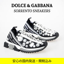 Dolce & Gabbana Casual Style With Jewels Elegant Style Logo Low-Top Sneakers