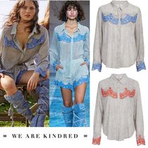 WE ARE KINDRED Dots Long Sleeves Elegant Style Shirts & Blouses