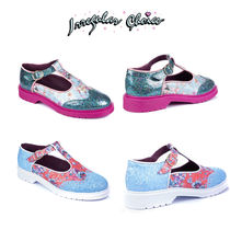 Irregular Choice Flower Patterns Round Toe Casual Style Suede Blended Fabrics
