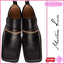 MARTINE ROSE Loafers Blended Fabrics Chain Plain Leather