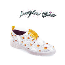 Irregular Choice Flower Patterns Round Toe Casual Style Suede Leather