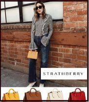 STRATHBERRY Casual Style 2WAY Chain Plain Leather Office Style