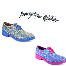 Irregular Choice Flower Patterns Plain Toe Casual Style Suede Leather