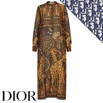 Christian Dior Casual Style Long Sleeves Other Animal Patterns Cotton Long
